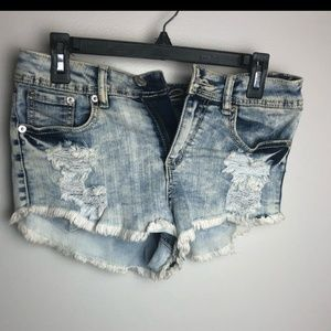 Rue 21 Denim Cut offs Small raw hem distressed